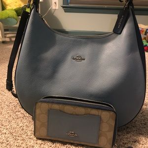 Coach hobo style bag and wallet